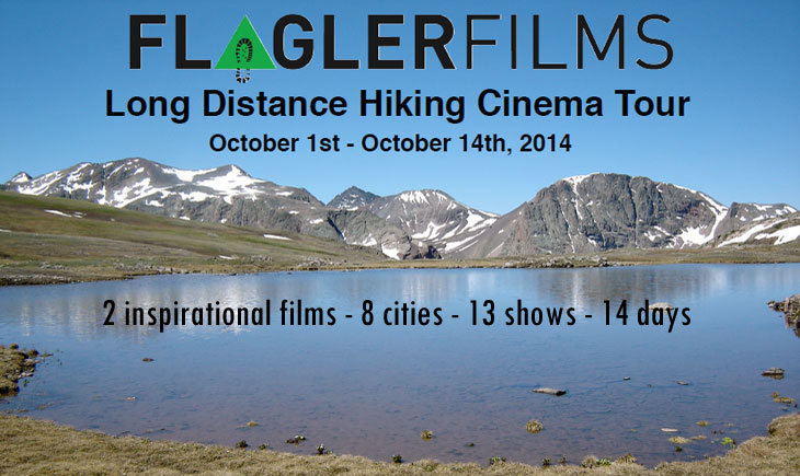 Long Distance Hiking Cinema Tour, October 1st - October 14th 2014, 2 inspirational films - 9 cities - 14 shows - 14 days