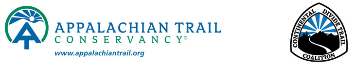 Appalachian Trail Conservancy logo - Continental Divide Trail Coalition logo